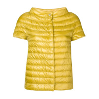Herno Jaqueta Matelassê Mangas Curtas - Amarelo