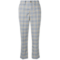 Closed Checked Cropped Trousers - Azul