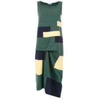 Mara Mac Vestido Midi Estampado - Verde