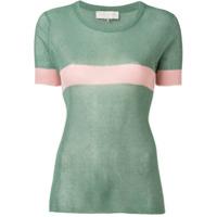 L'autre Chose Camiseta Com Listra - Green