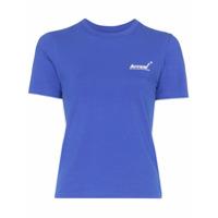 Ader Error Camiseta Com Estampa De Logo - Azul