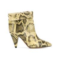 Isabel Marant Ankle Boot Com Efeito Pele De Cobra - Neutro