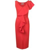 Le Petite Robe Di Chiara Boni Vestido Envelope Com Babados - Vermelho