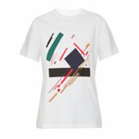Modem T-Shirt 'print Iii' Estampada - Branco