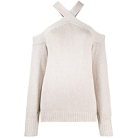 Nude Knitted Cold Shoulder Top - Neutro