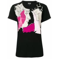 Just Cavalli Camiseta Com Estampa - Preto