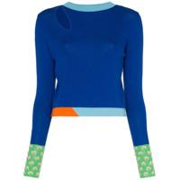 I-Am-Chen Suéter Color Block De Tricô - Azul