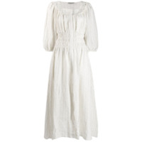 Three Graces Vestido Arabella Com Franzido - Branco