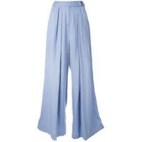 Bianca Spender Calça Pantalona Concerto - Azul