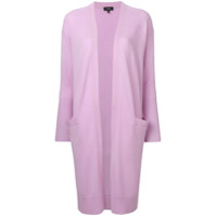 Theory Long Open Front Cardigan - Roxo