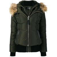 Mackage Zipped Hooded Jacket - Green