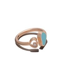 Chopard Anel 'happy Hearts' De Ouro Rosê 18K Com Diamante - Rose Gold