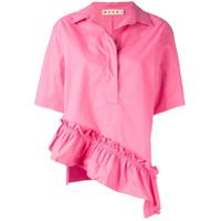 Marni Camisa Com Detalhe De Babado - Rosa