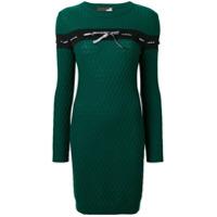 Love Moschino Vestido De Tricô - Green