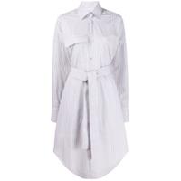 Remain Pinstripe Shirt Dress - Branco