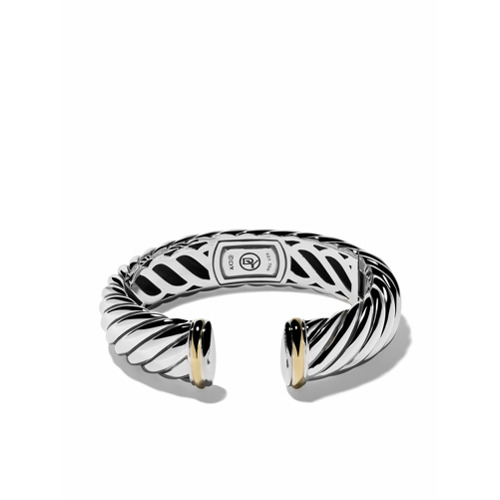 Imagem de David Yurman Braceletes 'Sculpted Cable' de prata com ouro 18k - S8