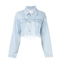 Ground Zero Jaqueta Jeans Cropped - Cinza