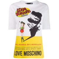 Love Moschino Repelent Print T-Shirt - Branco