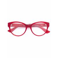 Gucci Eyewear Óculos De Grau Com Brilho - Vermelho