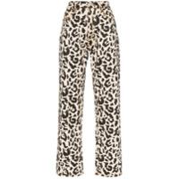 Eytys Calça Jeans Com Animal Print - Marrom