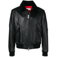 Al Duca D'Aosta 1902 Leather Jacket - Preto