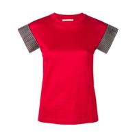 Christopher Kane Camiseta Com Cristais - Vermelho