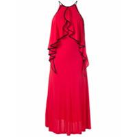 Tufi Duek Vestido Longo Babados Em Cascata - Vermelho