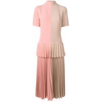 Atu Body Couture Vestido Com Pregas Color Block - Neutro