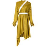 Palmer / Harding Chemise Heathers Assimétrica - Amarelo