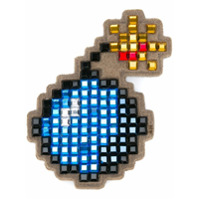 Anya Hindmarch Sticker 'bomb' De Camurça - Azul