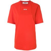 Msgm Camiseta Oversized Com Logo - Vermelho