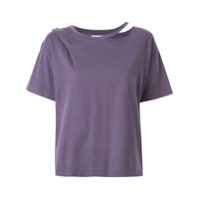 Ground Zero Camiseta Com Recorte - Roxo