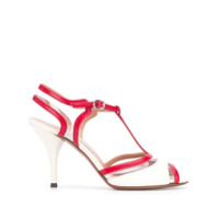 L'autre Chose T-Bar Paneled Sandal - Branco