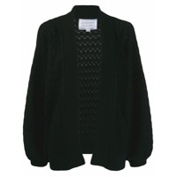 I Love Mr Mittens Balloon Sleeves Cardigan - Preto