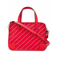 Karl Lagerfeld Bolsa Tiracolo Listrada Com Logo - Vermelho