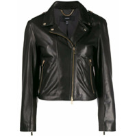 Arma Slim-Fit Leather Jacket - Preto