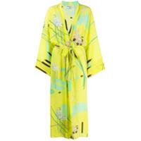 Bernadette Vestido Quimono Com Estampa Floral 'peignoir' - Amarelo