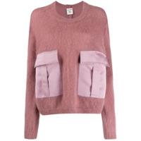 Semicouture Oversized Long-Sleeve Sweater - Rosa
