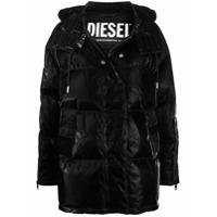 Diesel Casaco Matelassê Encerado - Preto