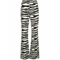 Rachel Zoe Calça Flare Com Estampa De Zebra - Branco