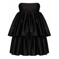 Rotate Vestido Tomara-Que-Caia Carmina Com Sobreposição - Preto