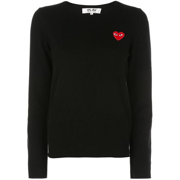 Comme Des Garçons Play Suéter com patch de coração - Preto