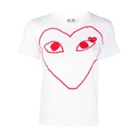 Comme Des Garçons Play Camiseta Com Estampa De Logo - Branco
