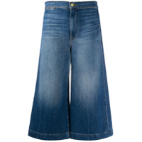 Frame Calça Jeans Pantacourt Com Cintura Alta - Azul