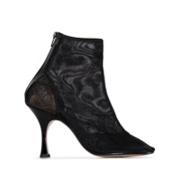 Mm6 Maison Margiela Ankle Boot Com Bico Quadrado - Preto