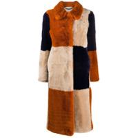 Stella Mccartney Casaco Fur Free Fur Com Recortes - Laranja
