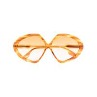 Victoria Beckham Eyewear Óculos De Sol Oversized Butterfly - Amarelo