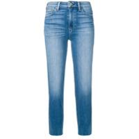 Paige Calça Jeans Cropped - Azul