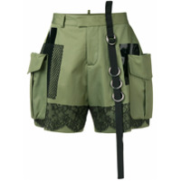 Dsquared2 High-Waisted Cargo Shorts - Verde