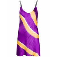 Palm Angels Vestido Mini Tie-Dye - Roxo